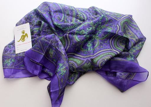 Colorful Soft Summer Floral Printed Silk Square Scarves - nepacrafts