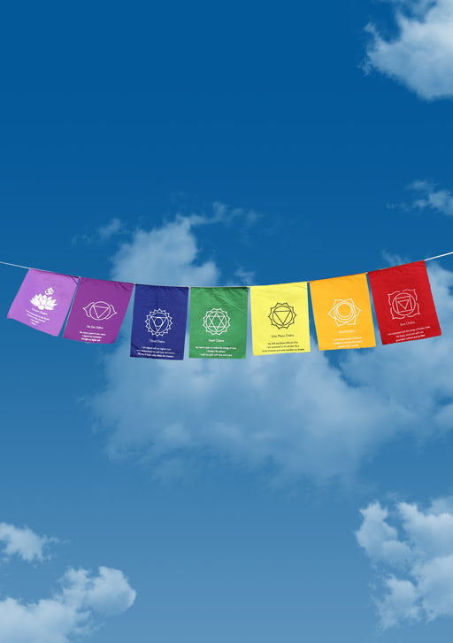 Seven Chakra Healing Prayer Flags