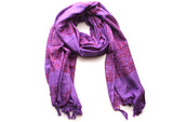 Buddha Printed Cotton Meditation Summer Shawl/Wraps with Beautiful Fringes