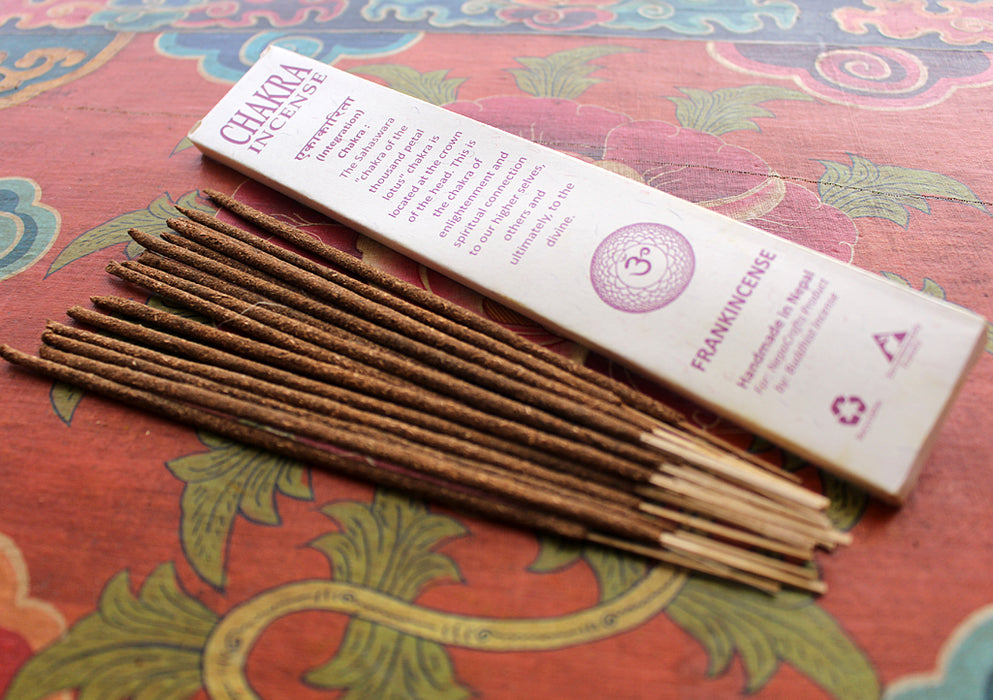 NepaCrafts Premium FrankIncense Crown Chakra Incense Sticks - nepacrafts