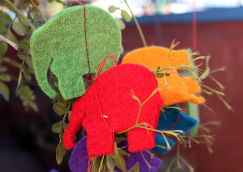 Felt Elephant Hanging Home Decor
