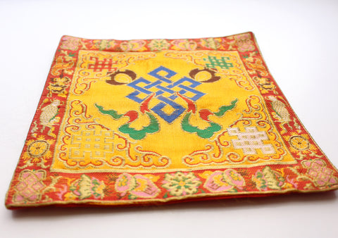 Heavy Embroidered Endless Knot Altar Cloth Purely Handmade