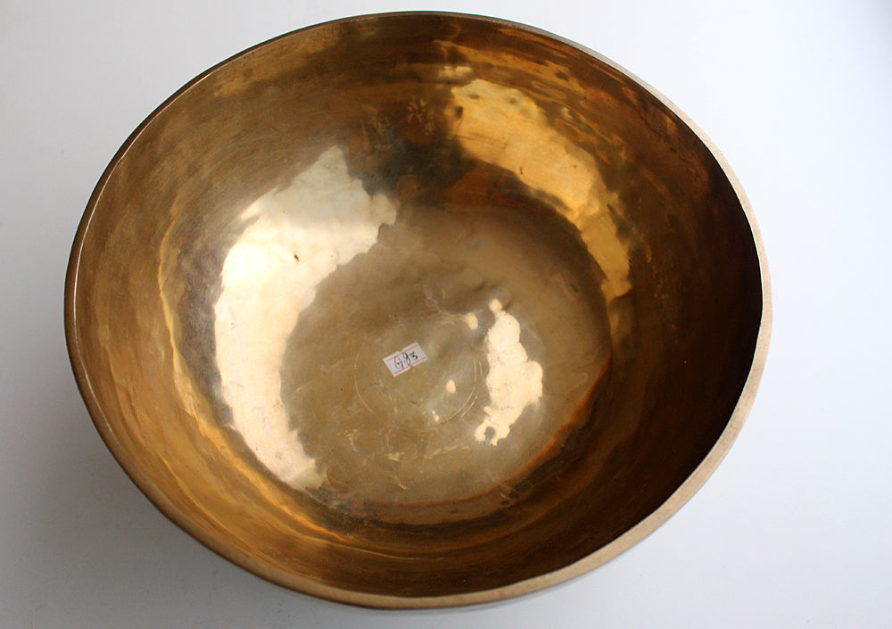 "Hand Hammered Plain Large Singing Bowl-11.5'""X 4.5"" - nepacrafts"