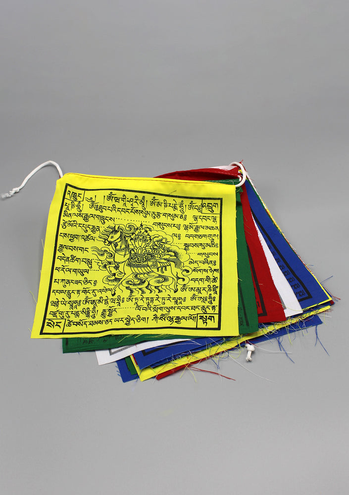 25 Sheets of Mixed Deities and Windhorse Printed Tibetan Prayer Flags