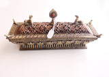 Large Potala Incense Burner Carved with 8 Auspicious Symbol - NepaCrafts