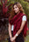 Silky Monk Red Water Pashmina Shawl - nepacrafts