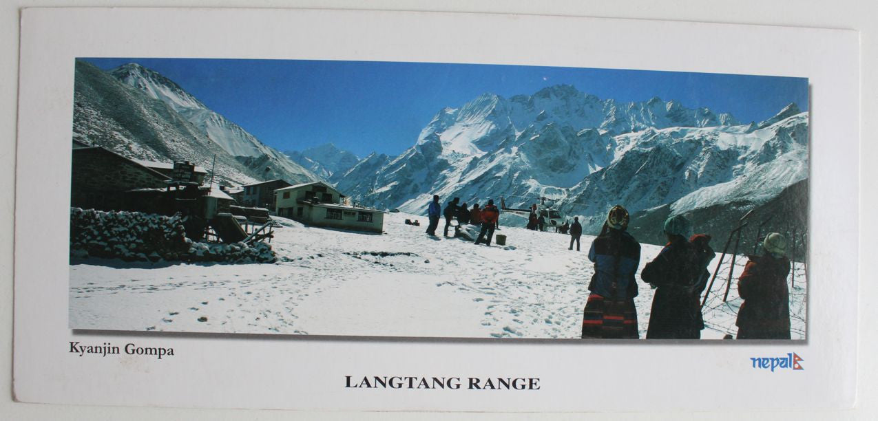 The Range of Langtang Panoramic Postcard Nepal - nepacrafts