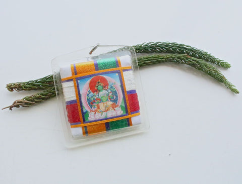 Green Tara Sungkhor Butti Protection Amulet