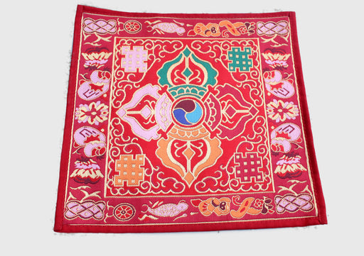 Double Dorjee Brocade Religious Altar Table Cloth - nepacrafts
