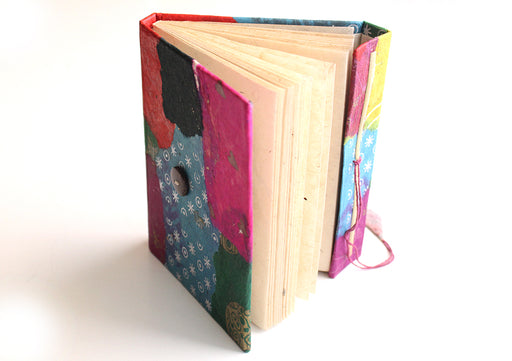 Multi colored Knot Design Lokta Paper Journal Book - nepacrafts