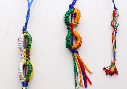 Colorful Braided Dorjee Car Hanging Amulet - nepacrafts