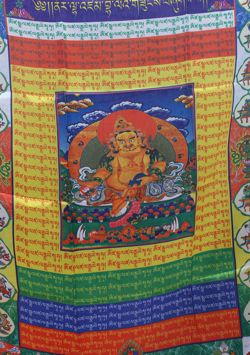 Zambala Vertical Tibetan Prayer Flags with Color Print - nepacrafts