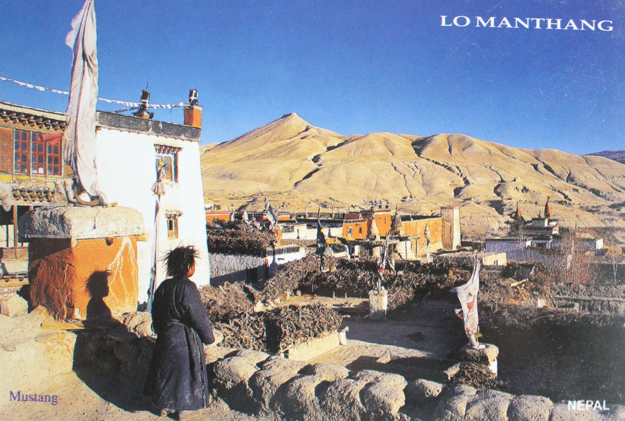 Capital of Mustang-Lo Manthang Nepal Postcard - nepacrafts