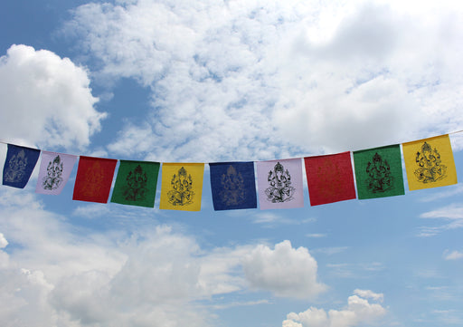Ganesh Printed Blessing Prayer Flags - nepacrafts