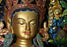 "19.5"" Majestic Green Tara Gold Plated Statue"