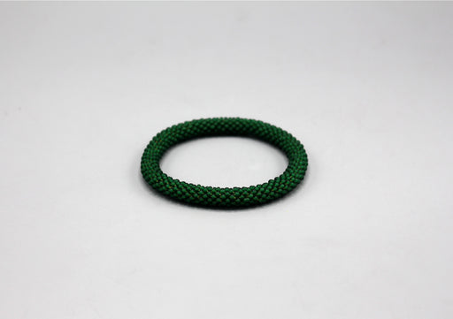 Dark Green Roll on Bracelet - nepacrafts