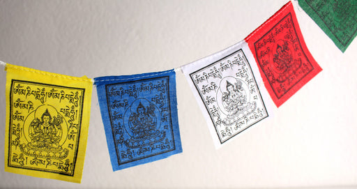 Chenrezig Mantra for Compassion Mini Tibetan Prayer Flags - nepacrafts