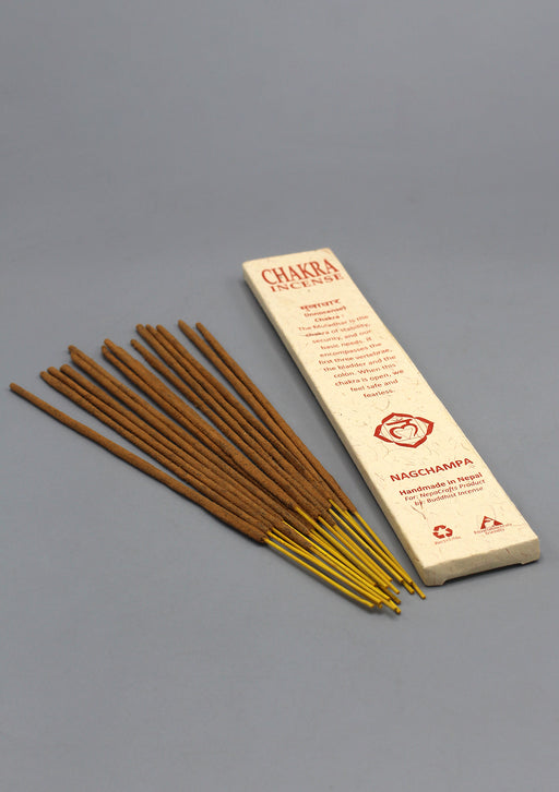 NAG CHAMPA ROOT CHAKRA INCENSE STICKS