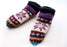 Purple Snow Flakes Pattern Woolen Multicolor Indoor Lined Socks - nepacrafts