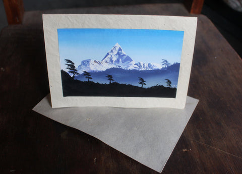 Mountain Landscape Greeting Card - NepaCrafts