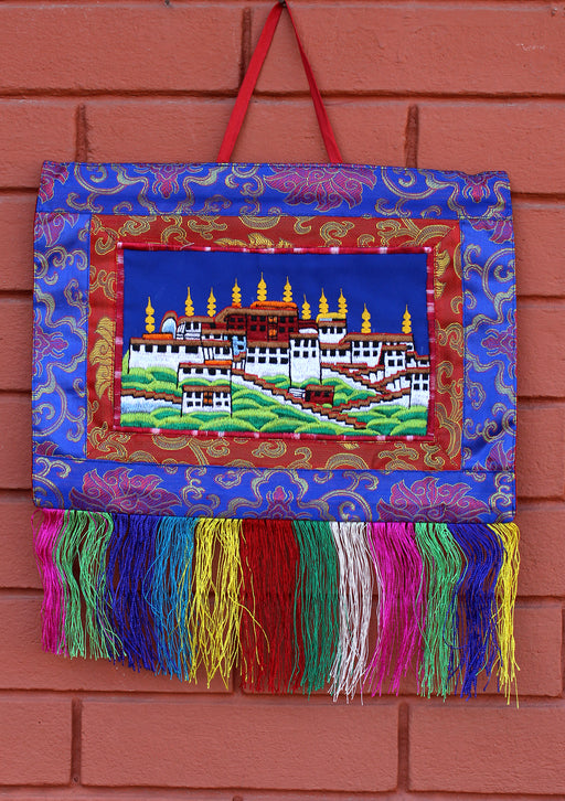 Potala Palace Embroidered Tibetan Wall Hanging Banner