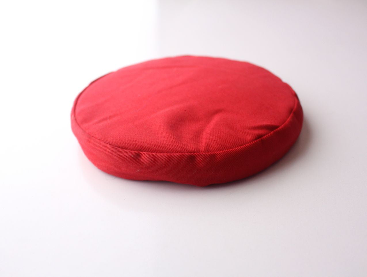 Lightweight Round Red Singing Bowl Cushion - nepacrafts