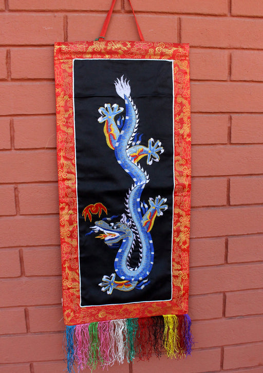 Dragon Embroidery Wall Hanging Banner - nepacrafts