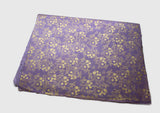 Light Purple with Golden Flower Printed Gift Wrapping Paper - NepaCrafts