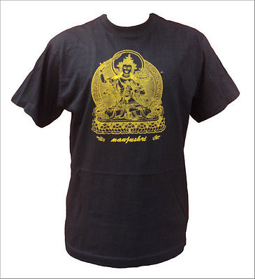 Manjushri Printed Cotton T-shirt - NepaCrafts