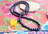 Black Rosewood Beads Tibetan Prayer Mala, Meditation and Yoga Mala - NepaCrafts