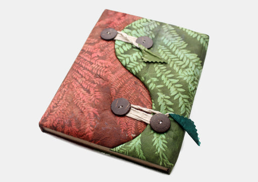 Ying Yang Design Button Closure Lokta Paper Journal Book - nepacrafts