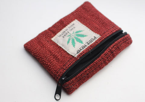 Natural and Eco Friendly Hemp Coin Zipper Pouch, Earthy Hemp Coin Purse - NepaCrafts
