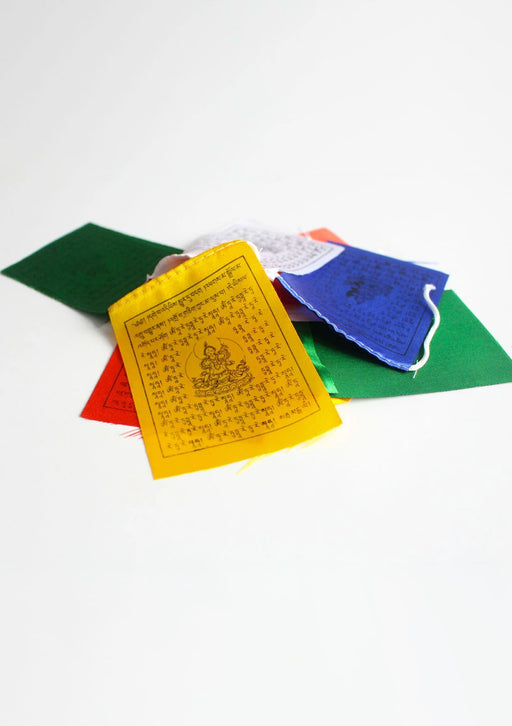 Mini Green Tara  Polyester Silk  Tibetan Prayer Flags