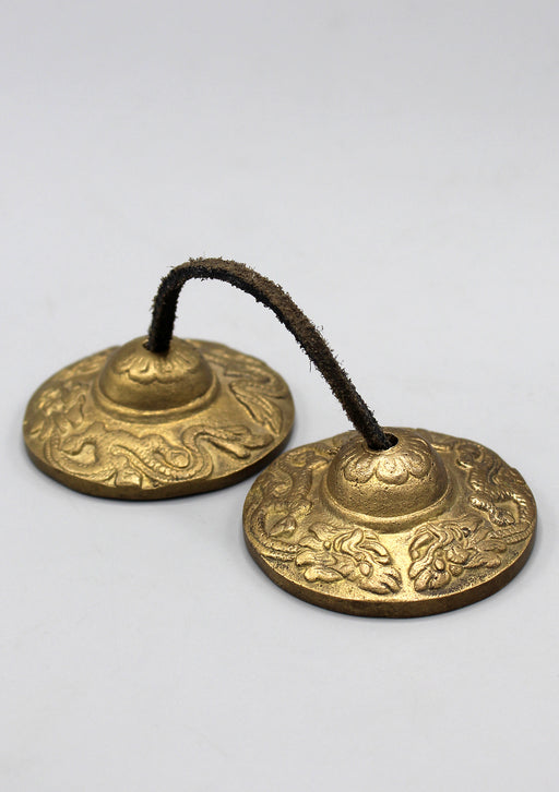 Dragon Carving Cymbals/Tingsha - nepacrafts