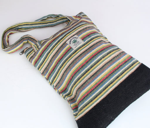 Striped Hemp Tote Bag - nepacrafts