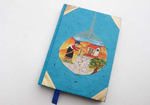 Life of  Woman in Village Lokta Paper Journal Book - nepacrafts