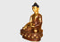"Masterpiece Partly Gold Plated Copper Shakyamuni Buddha Statue 45"" High From Nepal - nepacrafts"