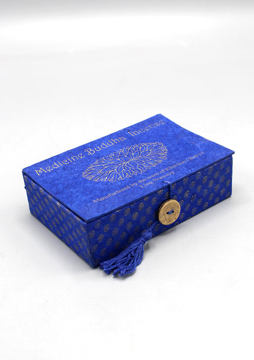 Medicine Buddha Incense Blue Lokta Box