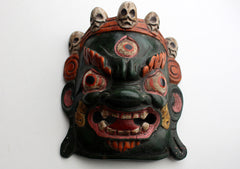 Mahakala Wooden Wall Hanging Mask