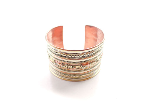Braided Copper Tibetan Cuff Bracelet - nepacrafts