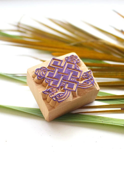 Auspicious Endless Knot Wooden Stamp