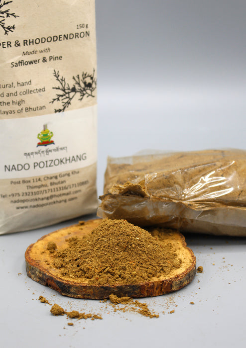 Nado Poizokhang Juniper & Rhododendron Powder Incense - nepacrafts