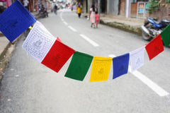Polyester Silk Baby Green Tara Prayer Flags