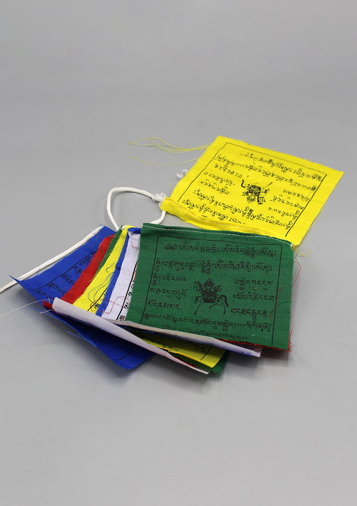 Cotton Mini Windhorse Prayer Flags Set