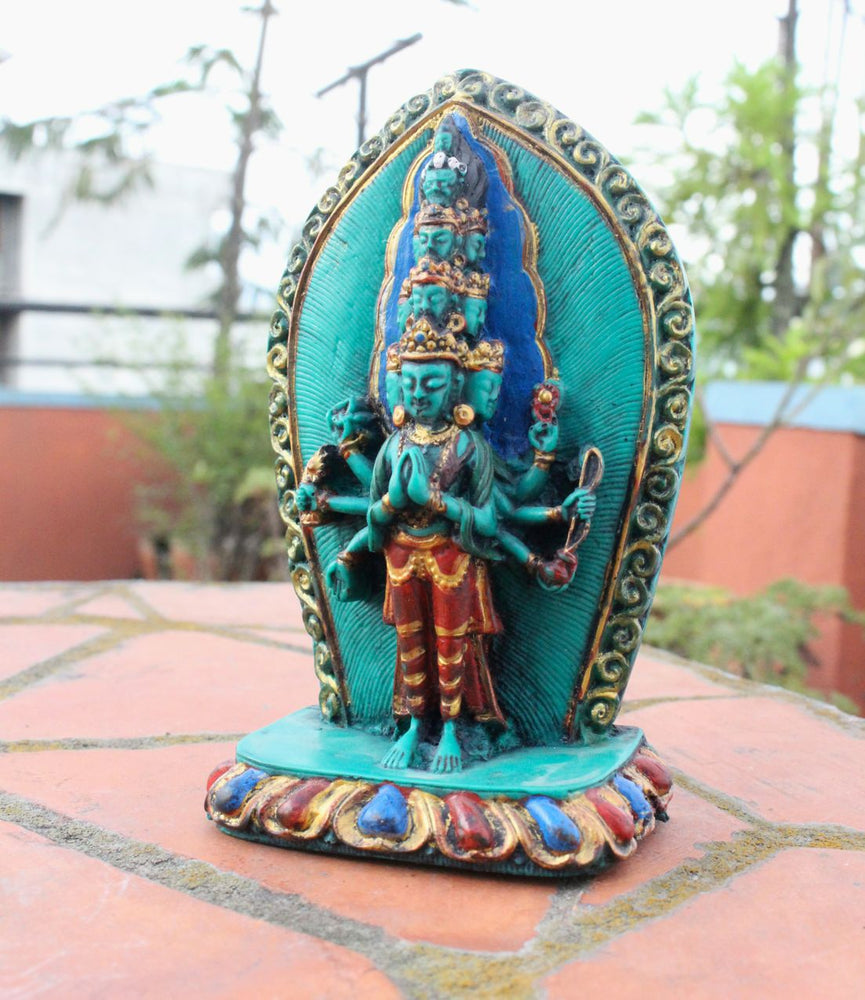 Thousand Arms Lokeshwor Resin Statue RST019 - nepacrafts