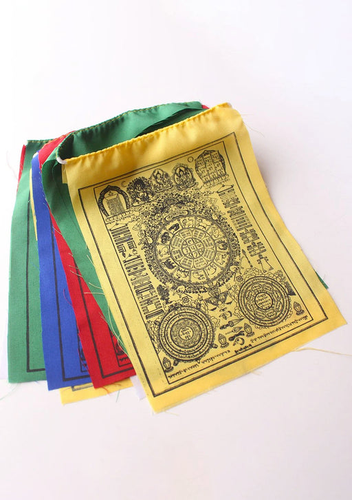 Tibetan Astrology Jyoti Chakra Wheel Prayer Flags