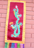 Dragon Embroidery Tibetan Wall Hanging - NepaCrafts