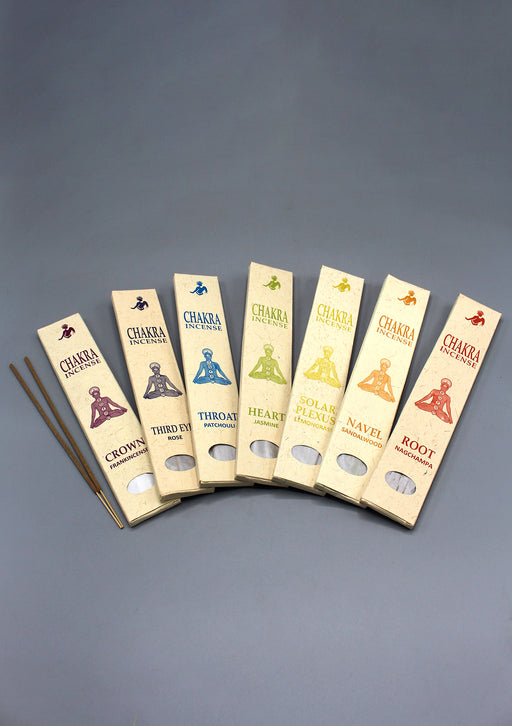 Seven Chakra Flora Incense Sticks Gift Pack
