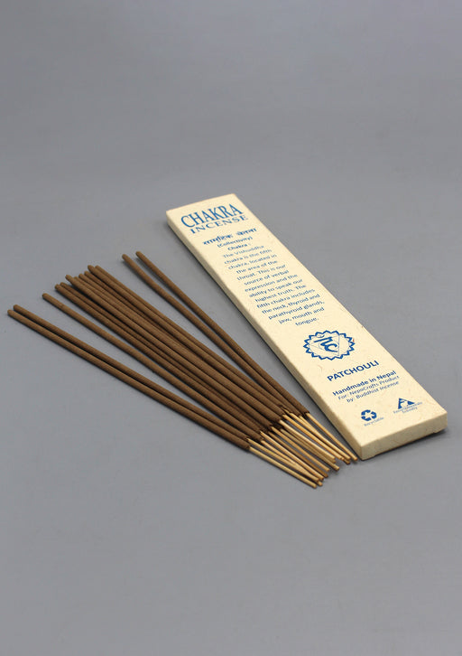NepaCrafts Premium Patchouli Throat Chakra Incense Sticks