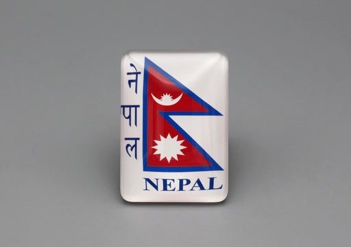 Nepalese Flag Rectangle Glass Fridge Magnet - nepacrafts